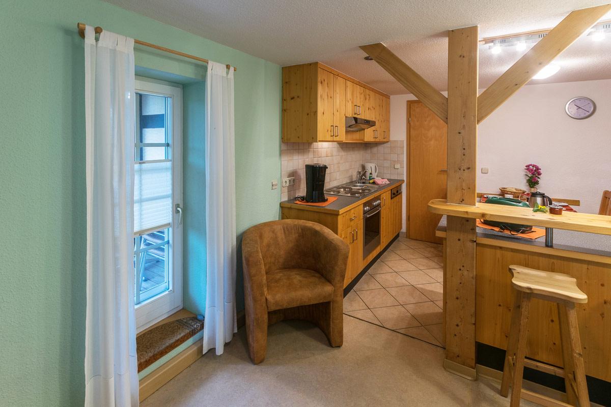 Ferienwohnung 1 im Erdgeschoss - Wohnküche mit Esstisch